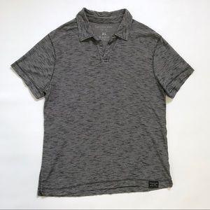 Calvin Klein Men's XL Polo Shirt Tee Striped Gray